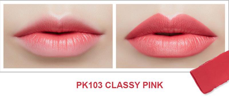 Son Thỏi Mịn Môi VDIVOV Lip Cut Rouge PK103 Classy Pink 3.8g