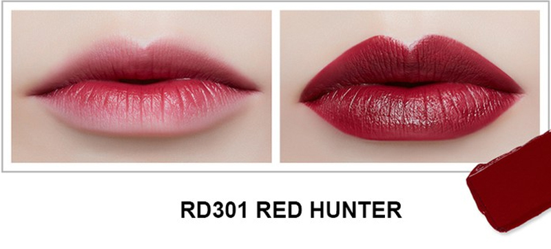 Son Thỏi Mịn Môi VDIVOV Lip Cut Rouge RD301 Red Hunter 3.8g