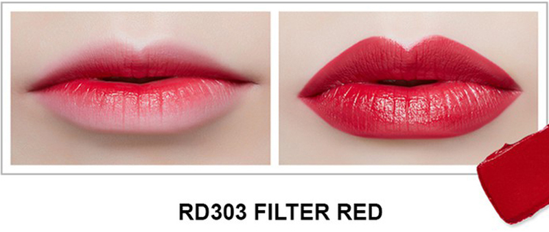 Son Thỏi Mịn Môi VDIVOV Lip Cut Rouge RD303 Filter Red 3.8g
