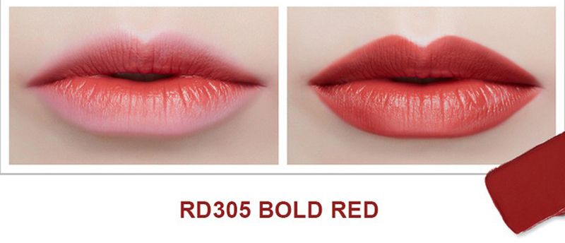 Son Thỏi Mịn Môi VDIVOV Lip Cut Rouge RD305 Bold Red 3.8g