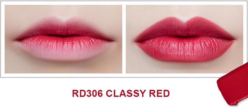 Son Thỏi Mịn Môi VDIVOV Lip Cut Rouge RD306 Classy Red 3.8g bám màu tốt