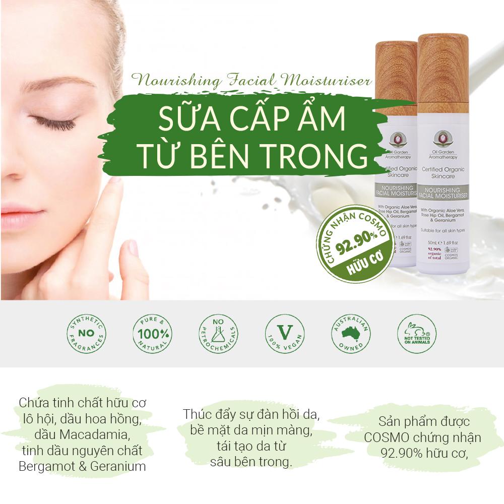 Sữa Cấp Ẩm Cho Da OIL GARDEN Nourishing Facial Moisturiser 50ml