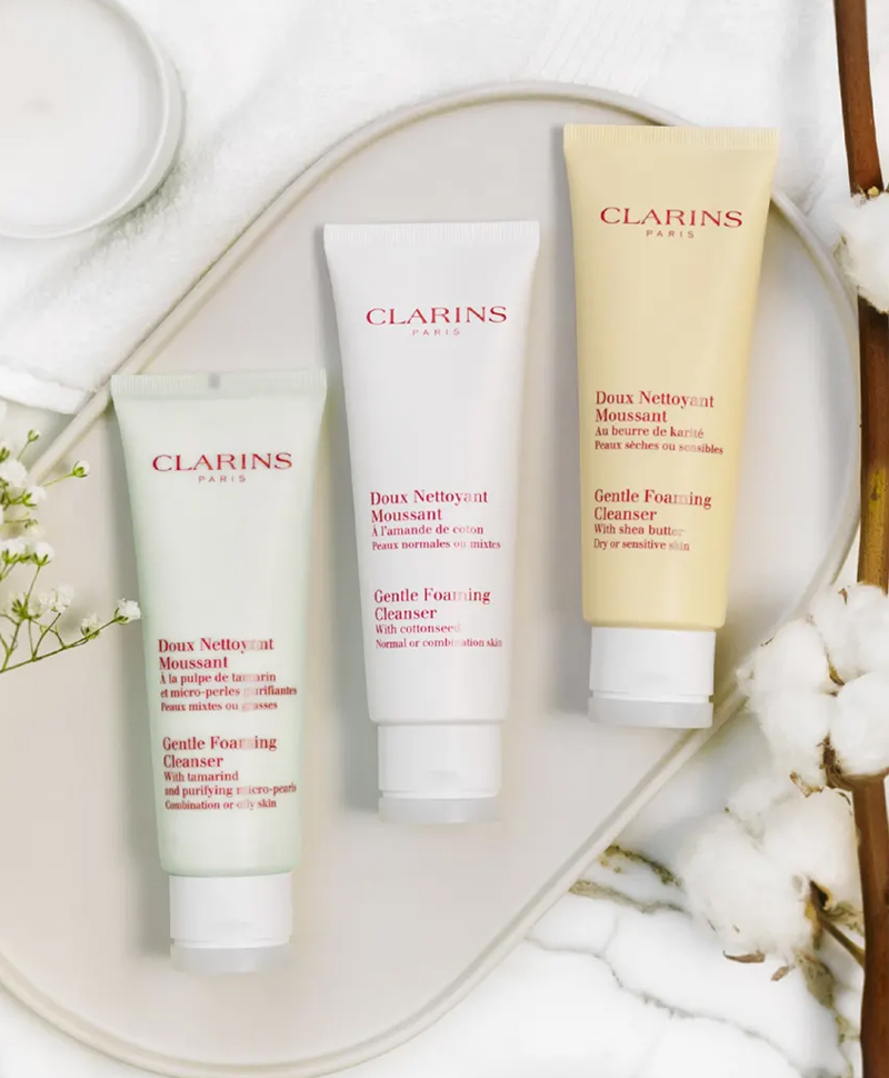 Sữa Rửa Mặt CLARINS Gentle Foaming Cleanser 125ml Có Nhiều Lựa Chọn