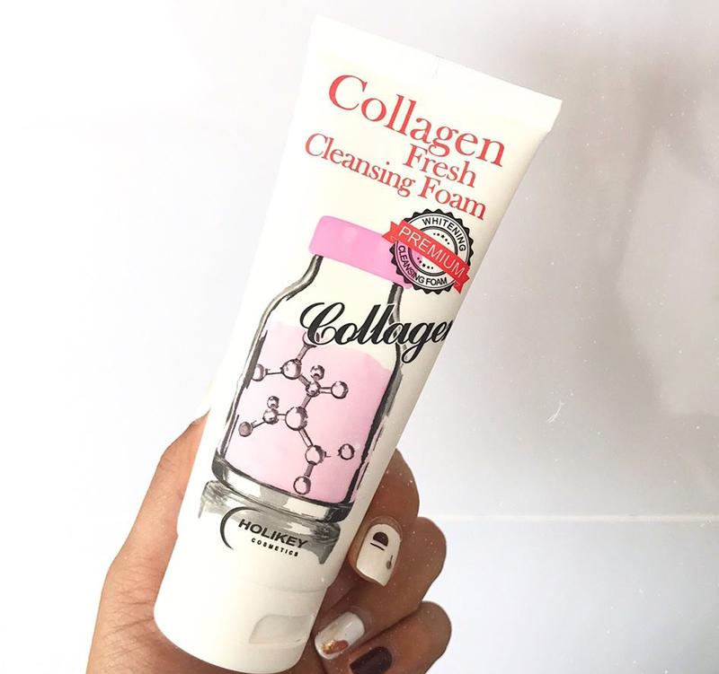Sữa Rửa Mặt Collagen Holikey Dưỡng Sáng Da, Ngừa Lão Hóa Collagen Fresh Cleansing Foam 100ml