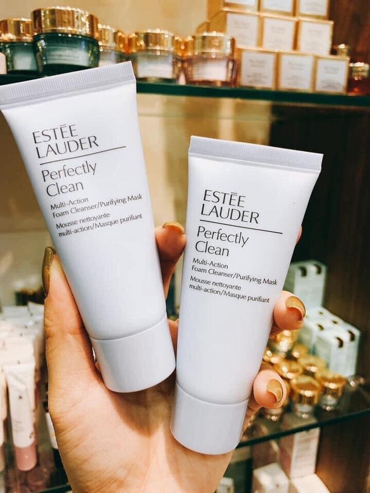 Sữa Rửa Mặt Kiêm Mặt Nạ Làm Sạch Sâu 2 Trong 1 ESTEE LAUDER Perfectly Clean Multi-Action Foam Cleanser/Purifying Mask