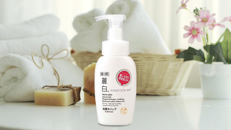 Sữa Rửa Mặt Làm Sáng Da Kumano Reihaku Facial Whip tạo bọt sẵn