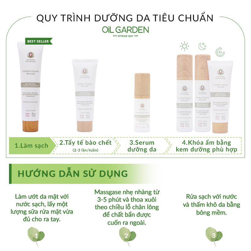 Sữa Rửa Mặt OIL GARDEN Cân Bằng Độ Ẩm Balancing Facial Cleanser 110ml cách dùng
