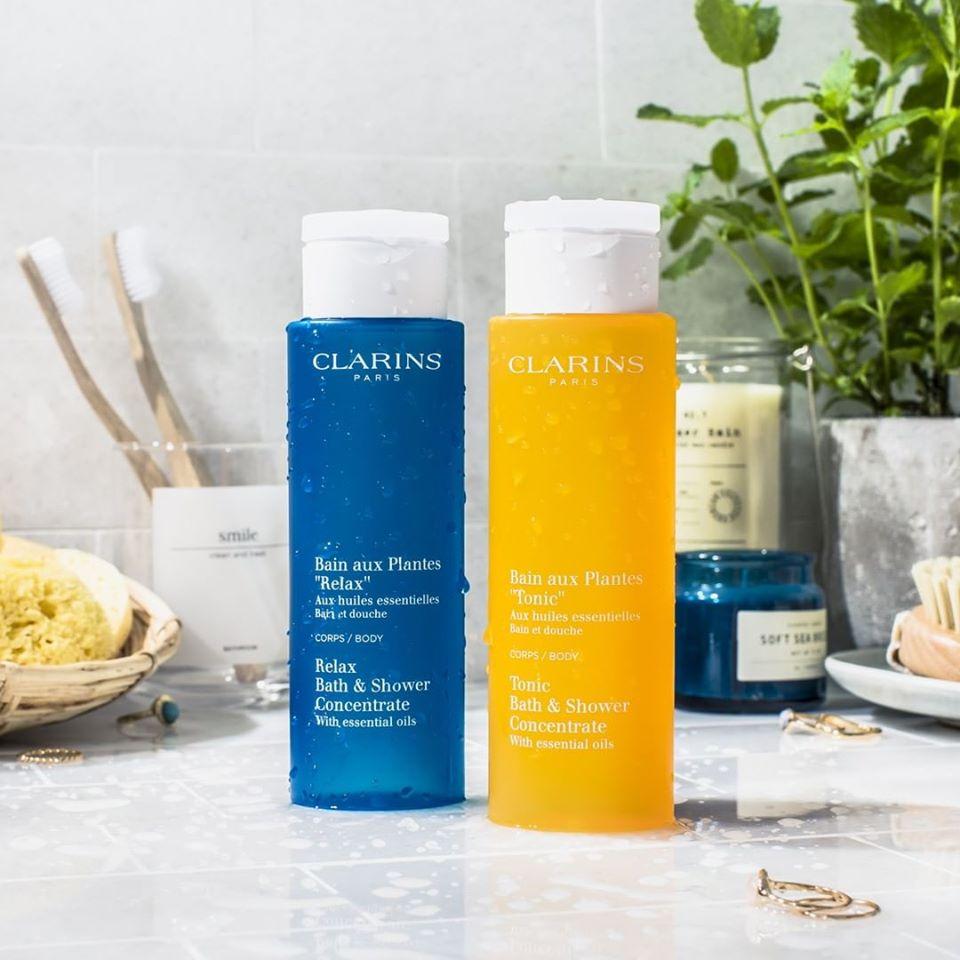 Sữa Tắm CLARINS Thư Giãn Bath & Shower Concentrate 250ml Cho Mọi Loại Da