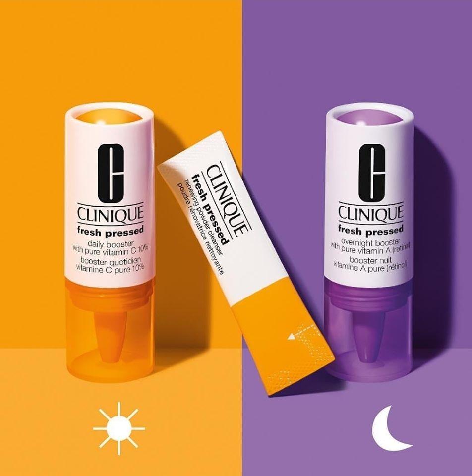 Tinh Chất Clinique Vitamin C Tươi Nguyên Chất + Vitamin A (Retinol) Fresh Pressed Daily Booster + Overnight Booster