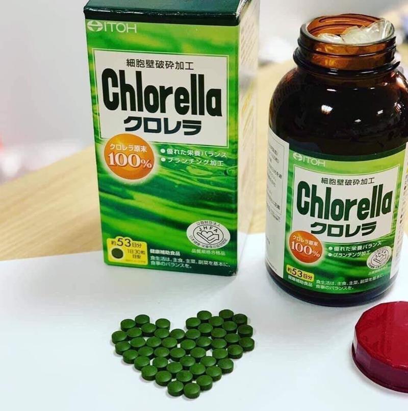 Viên Uống Tảo Lục Naris Cosmetic ITOH Chlorella 1600 Viên dễ dùng