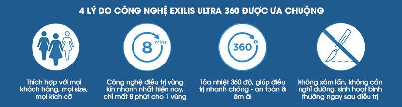 Ưu điểm của công nghệ Exilis Ultra 360