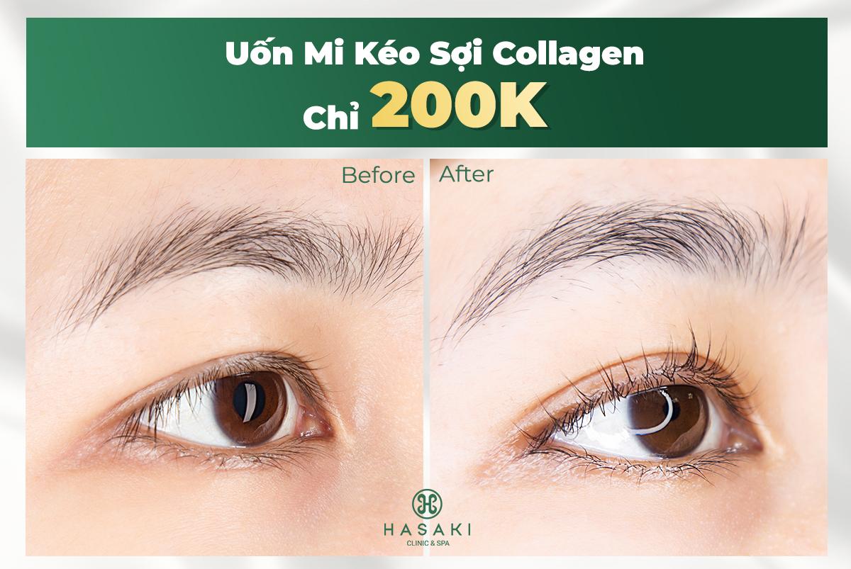 Uốn Mi Kéo Sợi Collagen Công Nghệ Hàn Quốc