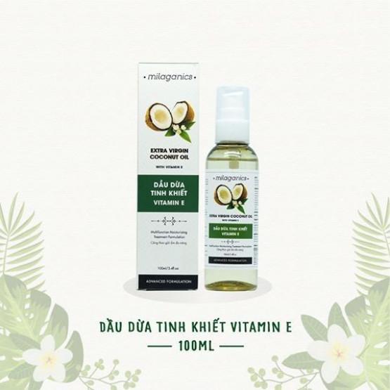 Dầu Dừa Tinh Khiết Vitamin E Milaganics 100ml | Hasaki.vn