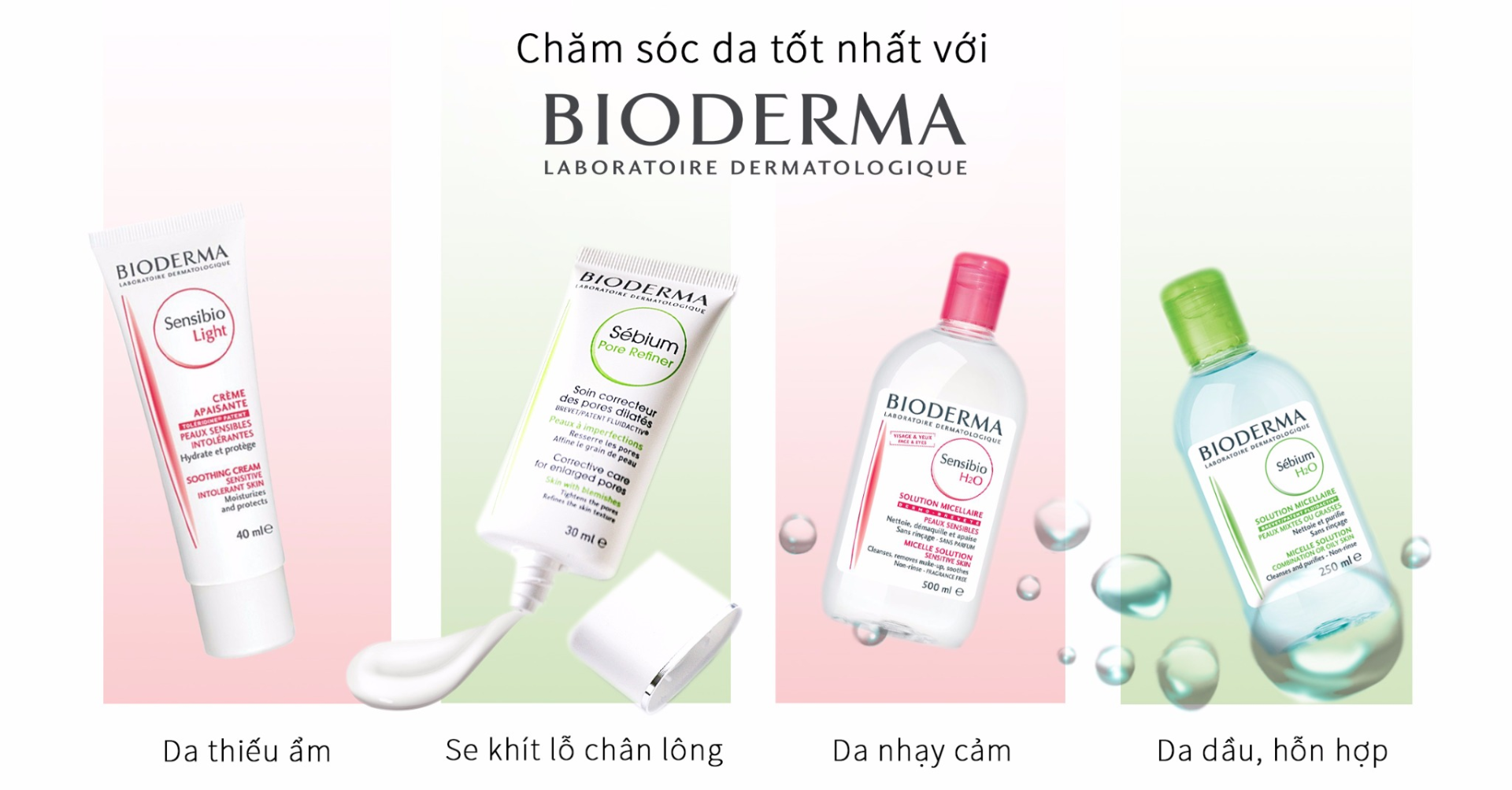 Nước Tẩy Trang Dành Cho Da Dầu & Hỗn Hợp Sebium H20 Bioderma - 250ml