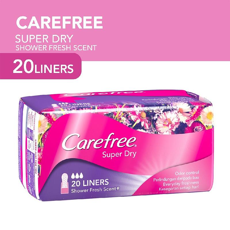 Băng vệ sinh Carefree Super Dry hàng ngày siêu th 20 miếng - 2ấm