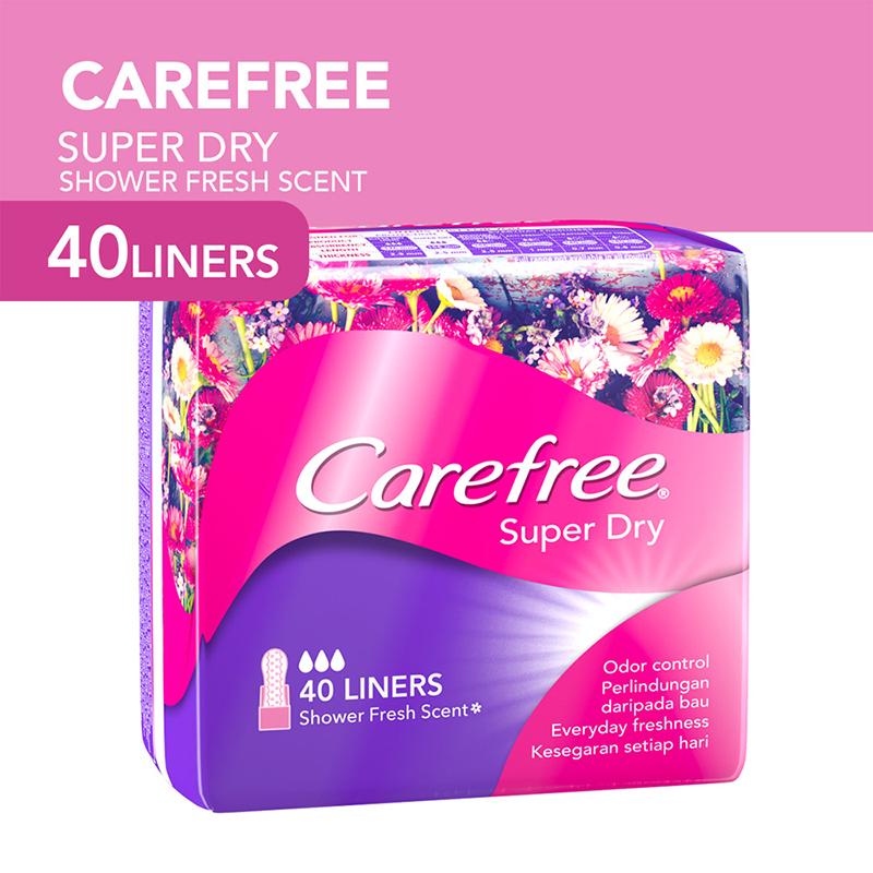 Băng vệ sinh Carefree Super Dry hàng ngày siêu thấm 40 miếng- 1