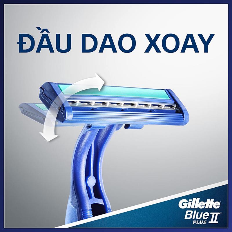Dao Cạo Râu Gillette Blue Plus II Pivot (Vỉ 2 Cây) 2