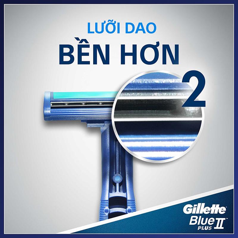 Dao Cạo Râu Gillette Blue Plus II Pivot (Vỉ 2 Cây) 3