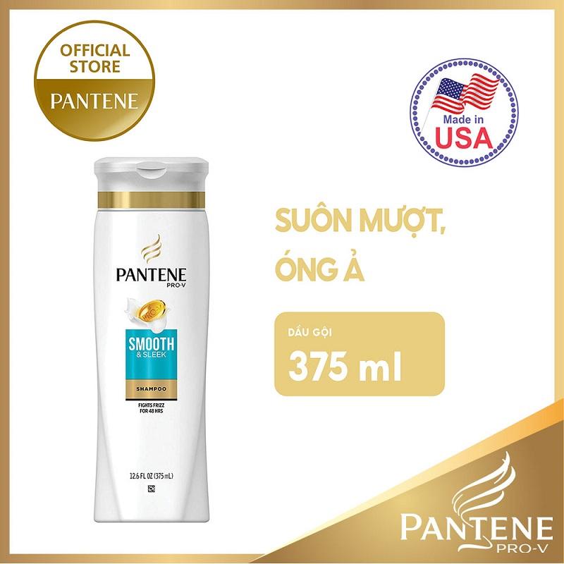 Dầu gội Pantene Smooth & Sleek suôn mượt, óng ả 375ml - 01