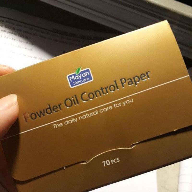 Giấy Thấm Dầu Mayan Powder Oil Control Paper 70 Tờ Phấn/Gói- 01