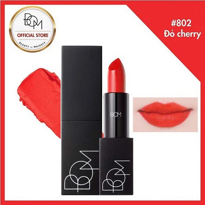 Hộp quà son B.O.M #802 My Cherry Red Màu Đỏ Cam 3.5g 2