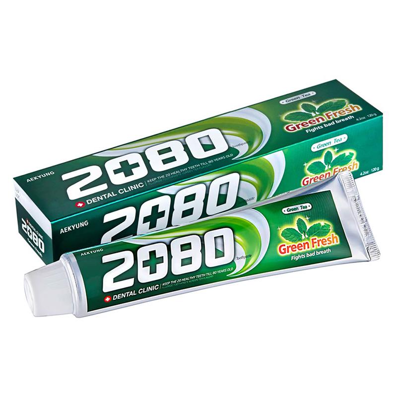 Kem đánh răng Dental Clinic 2080 tinh chất trà xanh - 02