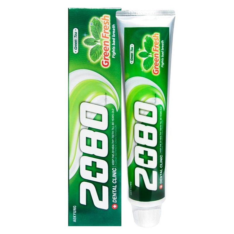 Kem đánh răng Dental Clinic 2080 tinh chất trà xanh - 01