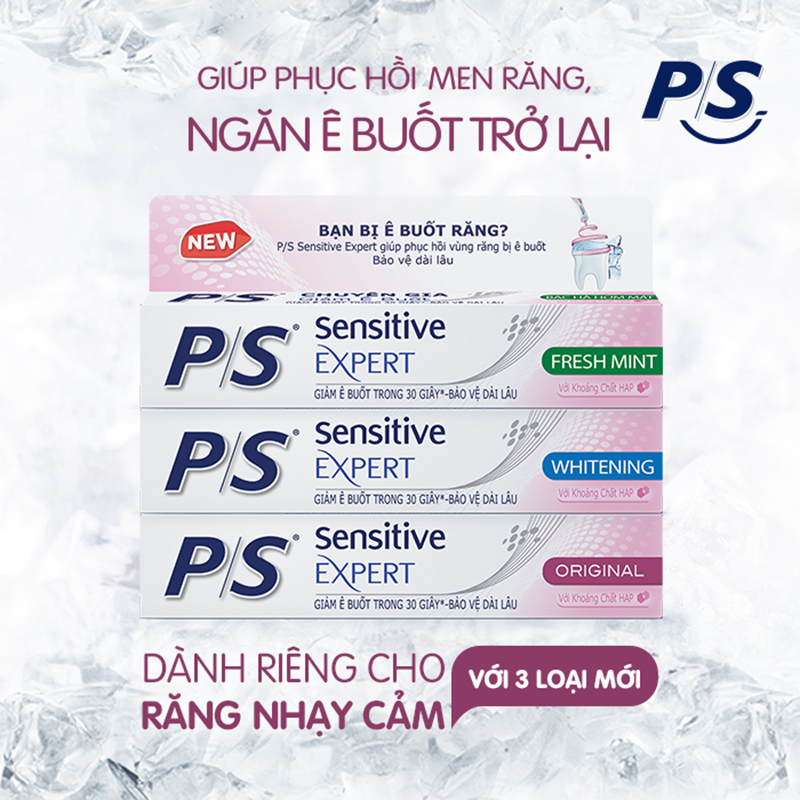 Kem Đánh Răng Sensitive Expert By P/S Whitening 100g 01