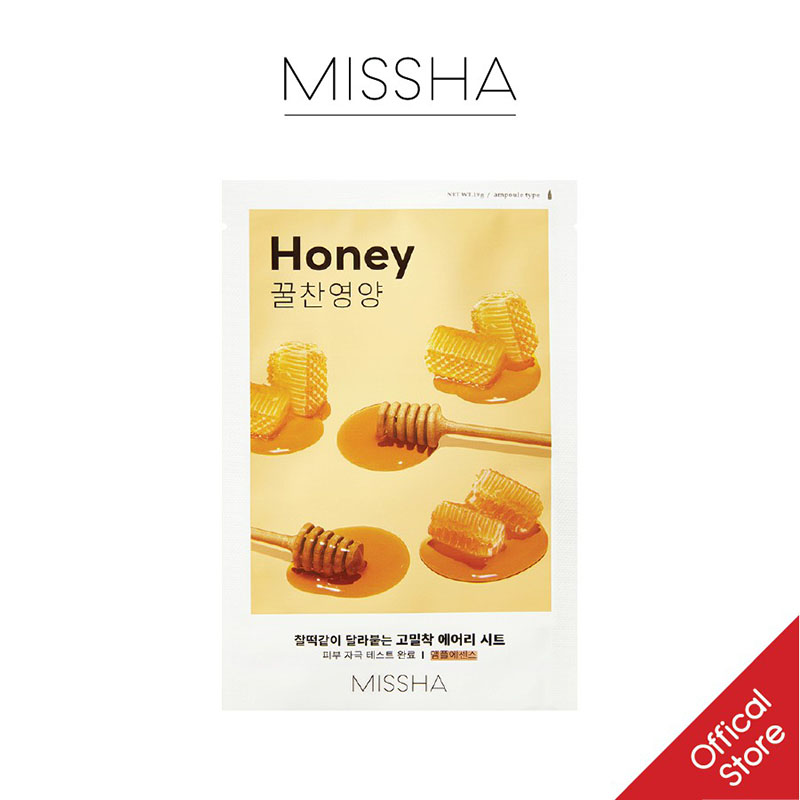 Mặt Nạ Giấy MISSHA Airy Fit Chiết Xuất Mật Ong 19g - 1