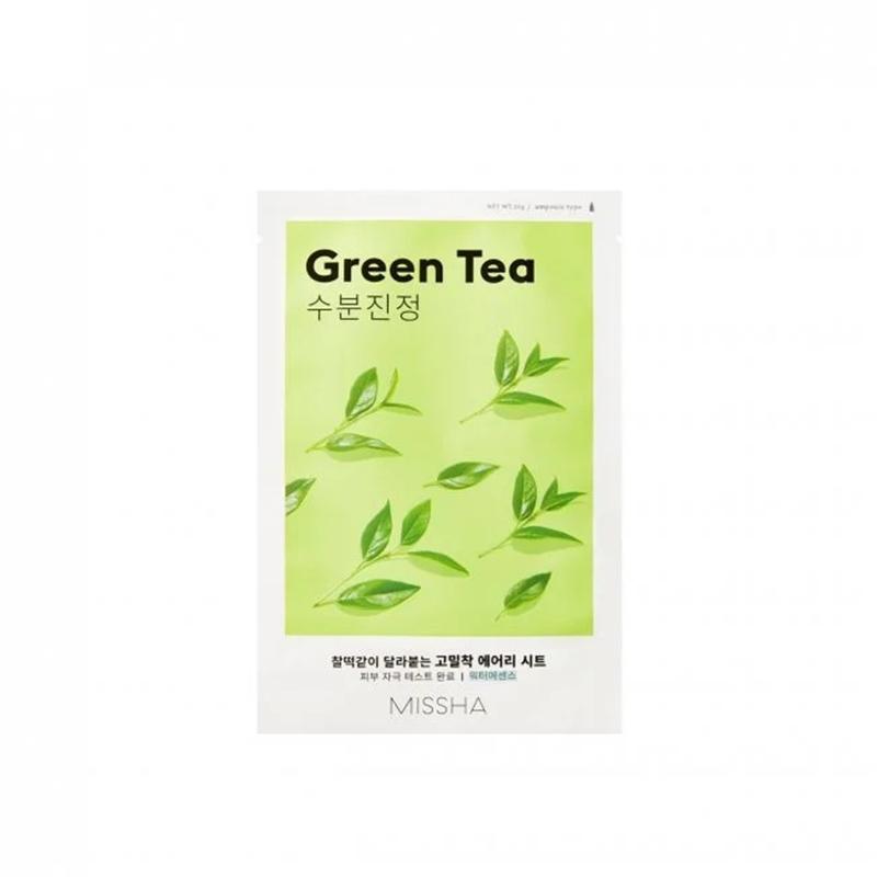 Mặt nạ giấy MISSHA Airy Fit Green Tea chiết xuất trà xanh - 1