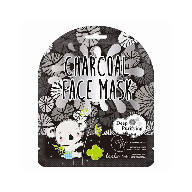Mặt nạ lookATME Face Mask #Charcoal thanh lọc da từ than hoạt tính 25ml