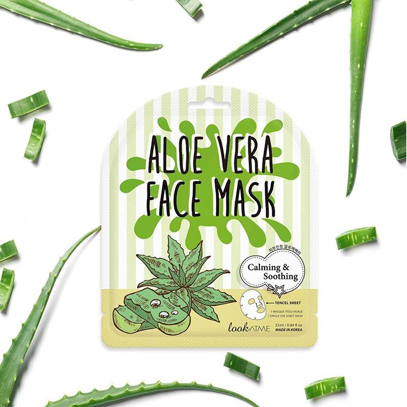 Mặt nạ lookATME Face Mask #Aloe Vera làm dịu da, giảm kích ứng từ lô hội 25ml