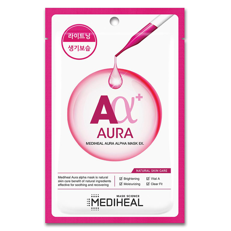 Mặt nạ Mediheal Aura Alpha Aura Alpha Mask EX dưỡng sáng làn da 23ml