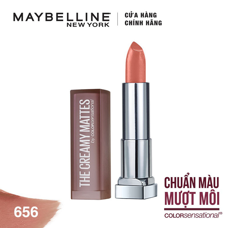 Son Lì Mềm Môi Maybelline Mini Color Sensational Creamy Matte Lipstick #656 - 1