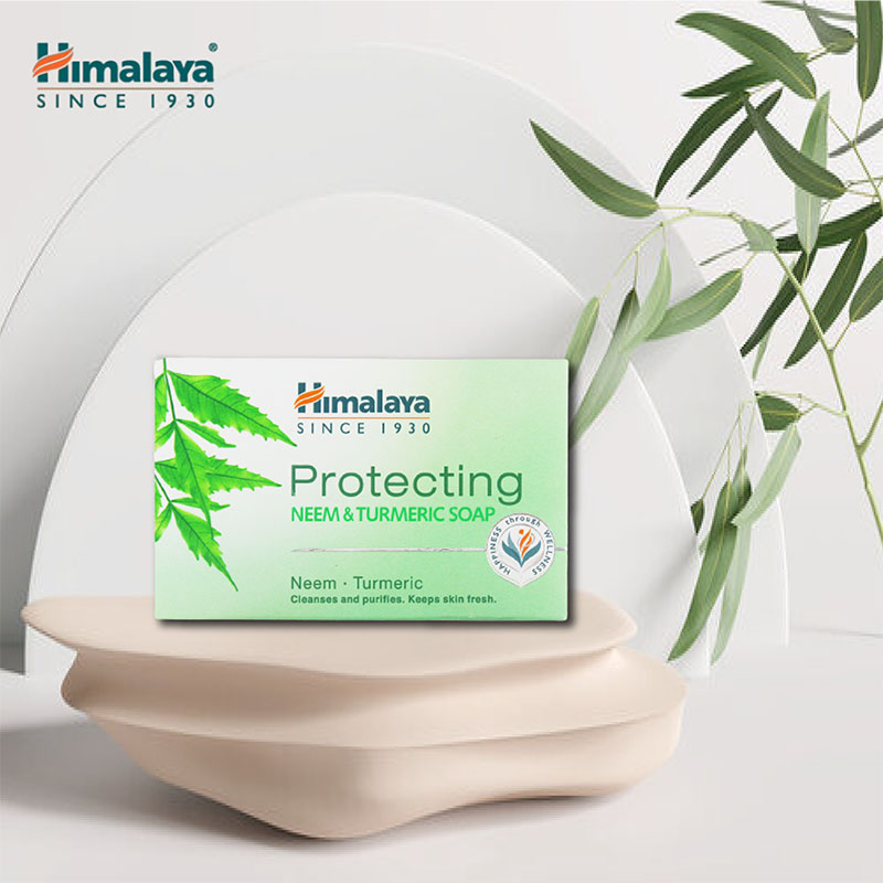 Xà phòng Himalaya Herbals Protecting Neem And Turmeric Soap sạch mụn lưng từ neem, nghệ tây 75g - 2