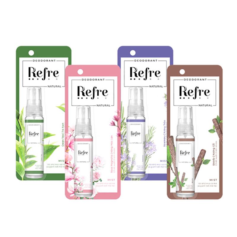 xịt khử mùi Refre Natural 01