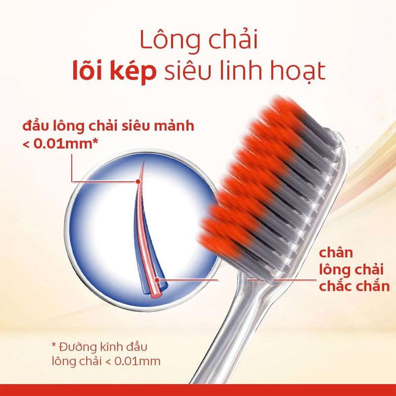 Thiết kế lông chải Bàn Chải Đánh Răng Colgate Khoáng Núi Lửa Chăm Sóc Nướu Hasaki