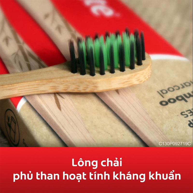 Bàn Chải Đánh Răng Colgate Than Hoạt Tính Kháng Khuẩn Bamboo Charcoal