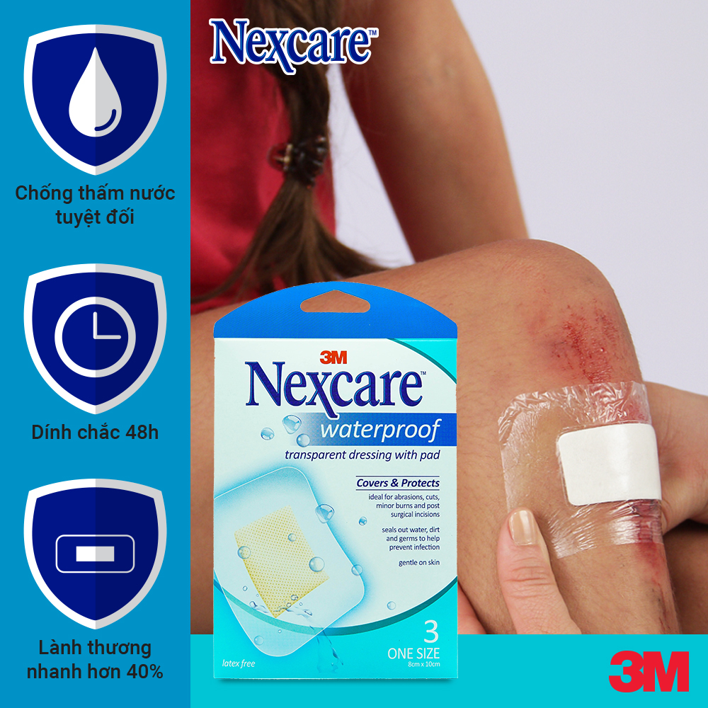 Nexcare 3M B100 Waterproof Covers & Protects