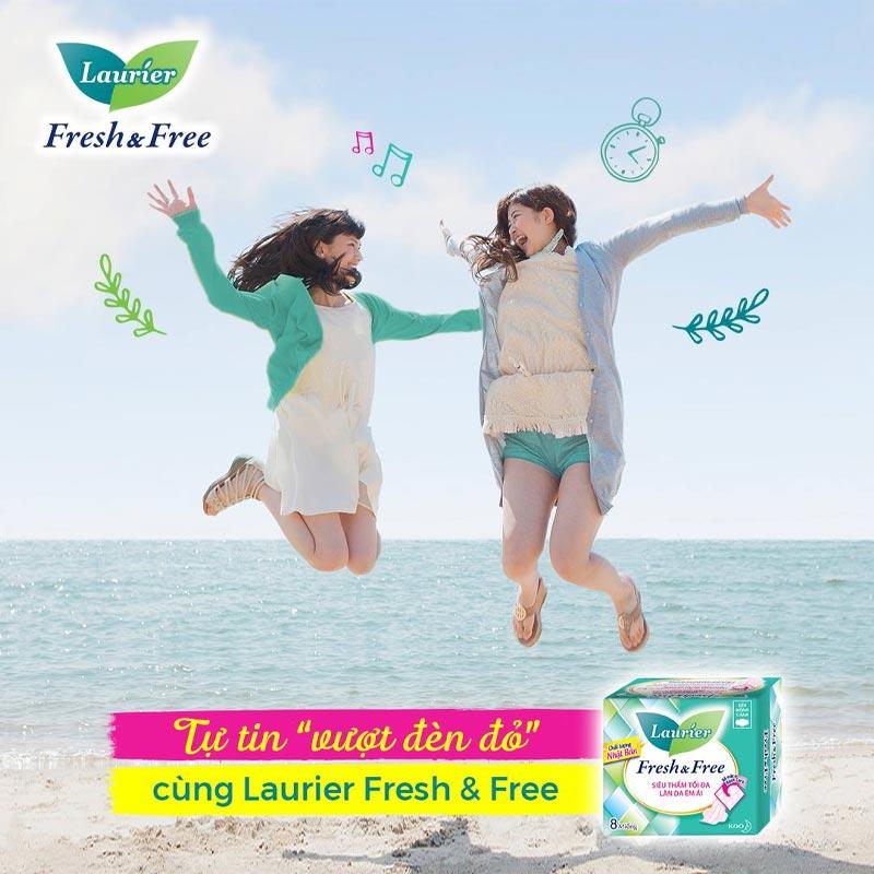 Băng Vệ Sinh Laurier Siêu Mỏng Cánh Ban Ngày 22cm Fresh & Free