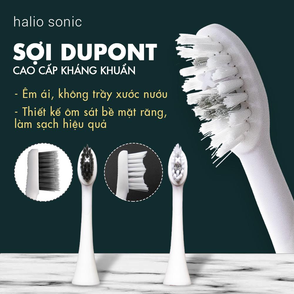 Bộ 2 Đầu Bàn Chải Đánh Răng Điện Halio Sonic Whitening Electric Toothbrush