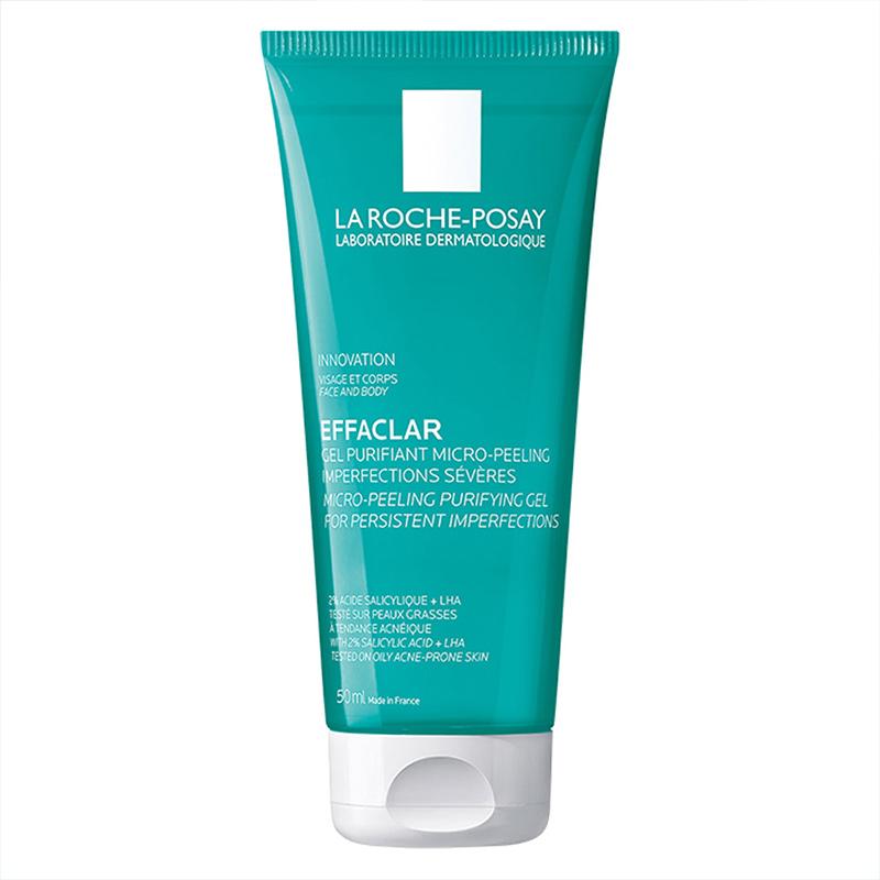 Gel Rửa Mặt & Tắm La Roche-Posay Làm Sạch & Giảm Mụn Effaclar Micro-Peeling Purifying Gel 50ml