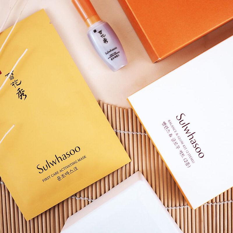 Bộ Dưỡng Sulwhasoo Cân Bằng & Làm Sáng Da Rạng Rỡ 2 Bước Sulwhasoo Balance & Glow Kit
