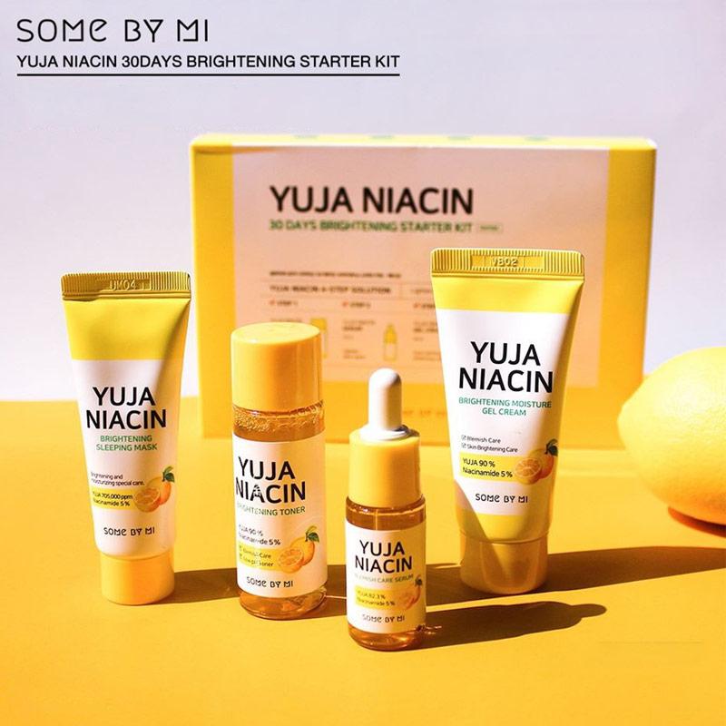 Bộ Kit Some By Mi Dưỡng Sáng Da Chiết Xuất Thanh Yên Yuja Niacin 30 Days Miracle Brightening Starter Kit