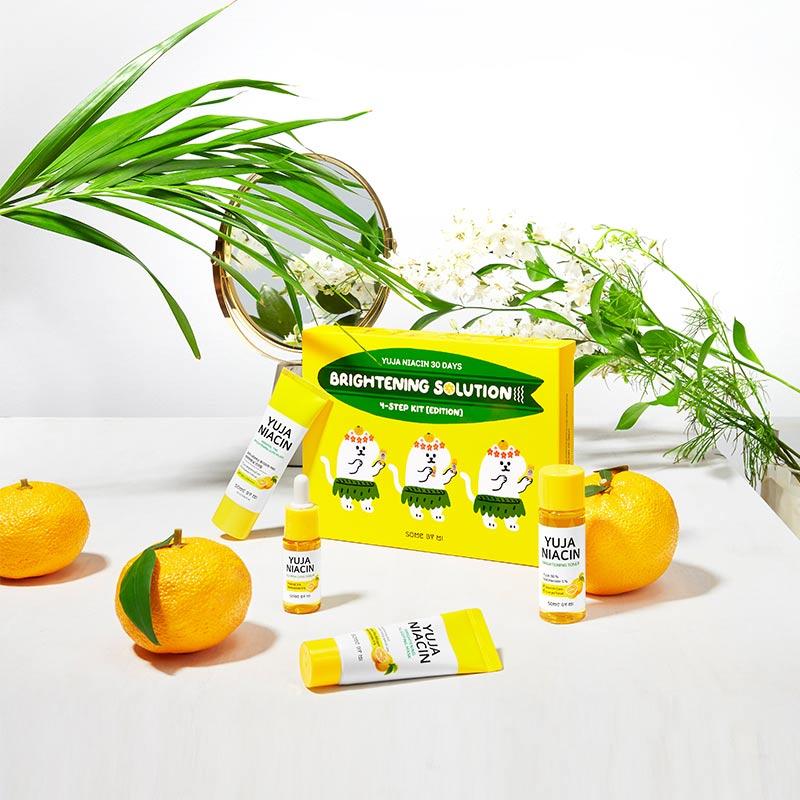 Bộ Kit Some By Mi Dưỡng Sáng Da Phiên Bản Đặc Biệt Yuja Niacin 30 Days Miracle Brightening Starter Kit Edition 4 Món