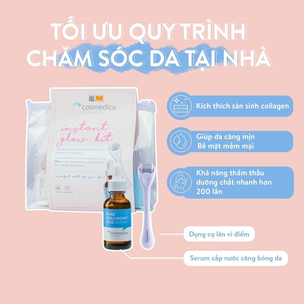 Bộ Sản Phẩm Cosmedica Tinh Chất Cấp Nước 30ml & Thanh Lăn
