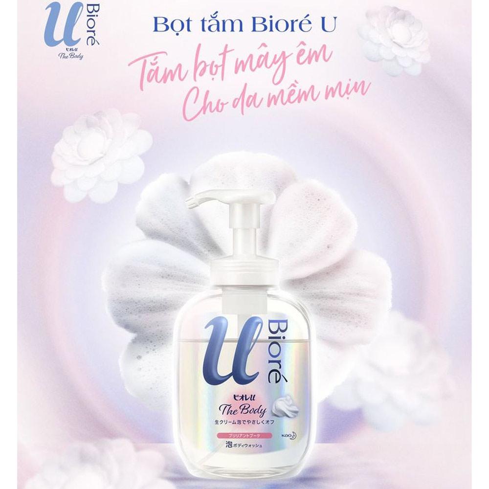 Bọt Tắm Bioré U The Body Hương Hoa Rạng Rỡ 540ml