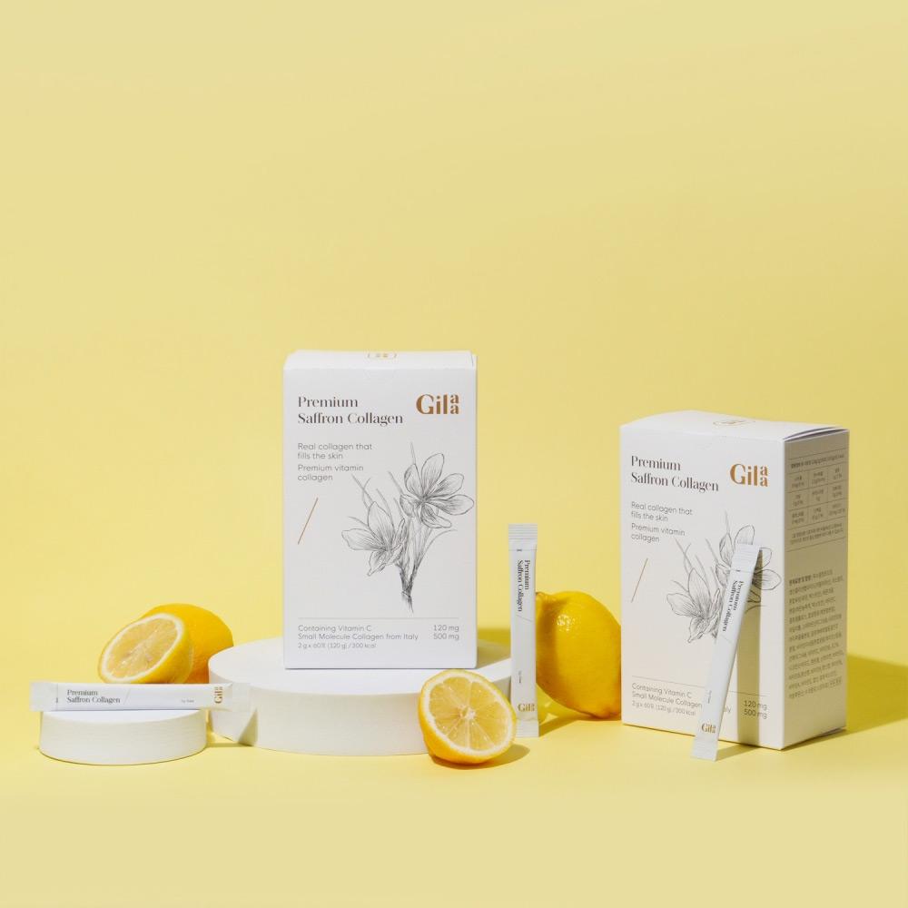 Bột Uống Collagen Gilaa Cao Cấp Kết Hợp Saffron 2g x 60 Gói