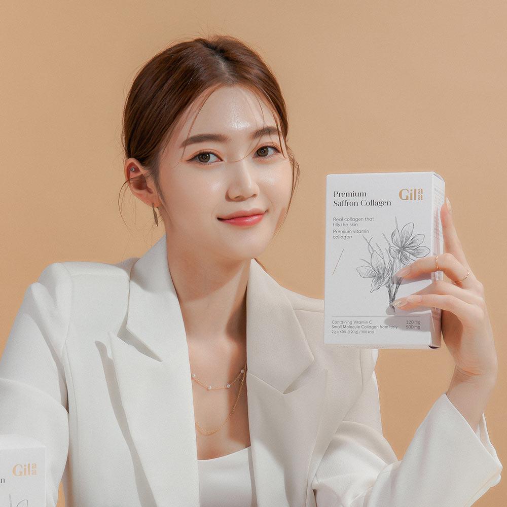 Bột Uống Collagen Gilaa Premium Saffron Collagen