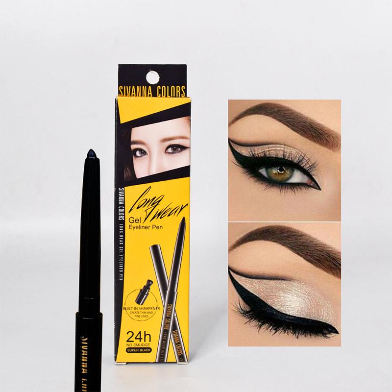 Chì Kẻ Mắt Sivanna Colors Long Wear Gel Eyeliner Pen Màu Đen